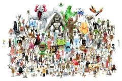 Classic Genre Movie Monster Characters Collection